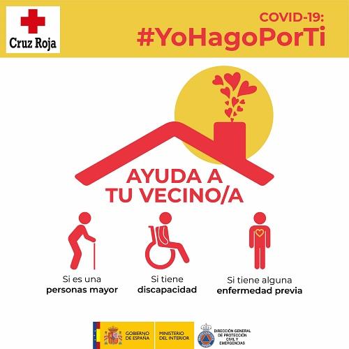 Cruz Roja y Protección Civil animan a ayudar a los vecinos en #YoHagoPorTi